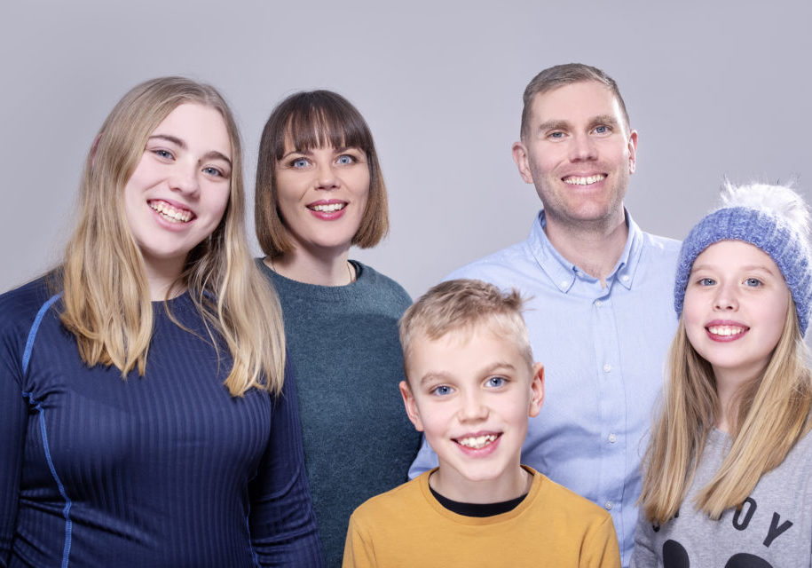 Kristin m. familie